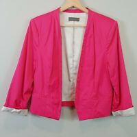 [ JACQUI.E ] Womens Pink Blazer Jacket  | Size AU 12 or US 8
