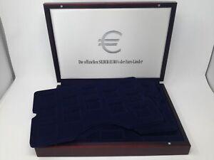 Luxus HOLZ Münzkassette für 24 Münzen bis 44 mm, gebraucht (Z2504)