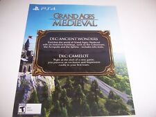 Grand Ages Medieval Camelot Ancient Wonders & Camelot DLC PS4 PlayStation 4