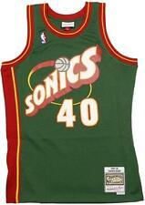 Shawn Kemp Jersey NBA Seattle Sonics 40 GREEN Swingman Authentic Edition