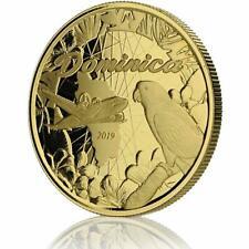 2019 1 Oz Dominica Parrot. 9999 Ouro Moeda Bu Em Certi-Lock #A462