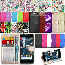 For Google  Pixel 2 - Premium Wallet Leather Case Flip Cover + Screen Protector