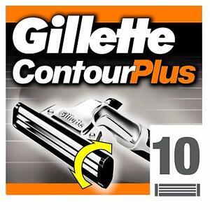 Gillette Contour Plus Razor Blades Cartridge 10 Refills FAST FREE UK STOCK