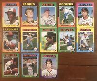 1975 Topps Baseball MINI 25-card Lot