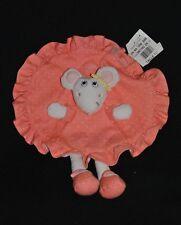 Doudou souris plat rond orange KIMBALOO la halle little candy mouse 100 % NEUF