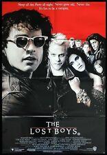 THE LOST BOYS Original One Sheet Movie poster KEIFER SUTHERLAND Vampires