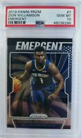 2019-20 Panini Prizm Emergent Zion Williamson Rookie RC #7, Graded PSA 10