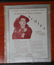 Vintage advertising- Schipa Metropolitan Opera -1933 Musical America magazine
