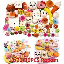10/20/30X Jumbo Medium Mini Squishy Bread/Cake/Buns Phone Straps Slow Rising Lot
