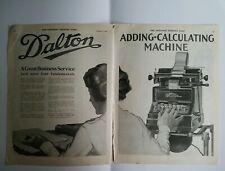 1920 Dalton business adding calculating machine vintage two 2 page ad
