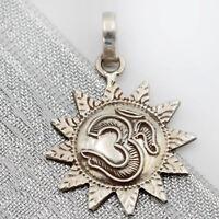 Anhänger OM Sonne Kettenanhänger Silber 925 Aum Meditation Sterlingsilber  cts