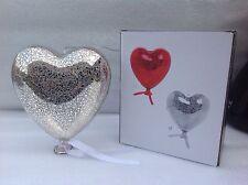 Balloon Heart LED Light Hanging Lighting Decorative Silver Coloured 14cm Gift