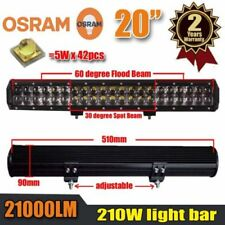 20Inch 210W OSRAM LED Work Light Bar Flood Spot Combo Beam 4WD Driving for Jeep