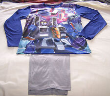 Transformers Mens Blue Grey Printed 2 Piece Pyjama Set Size S New