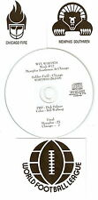 Original WFL Radio Broadcast on CD - Memphis Southmen vs Chicago Fire - 1974