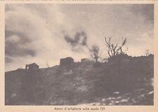 A4166) WW2, GRECIA, BOMBARDAMENTO DI ARTIGLIERIA A QUOTA 731.