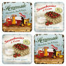 Homemade Marmelade  nostalgische Untersetzer in Geschenkverpackung je 9x9 cm