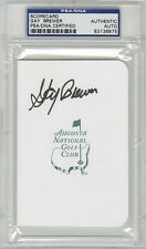 Gay Brewer SIGNED Augusta Masters Scorecard PSA/DNA AUTOGRAPHED