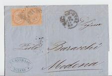 Italien - 1869, frankierter Beleg (2x 10 c.) aus MILANO nach MODENA !