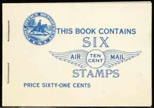 C10a, Mint 10¢ Lindbergh F-VF NH Booklet of Two Panes Cat $230.00 - Stuart Katz