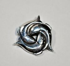 Amazing RETIRED JAMES AVERY Sterling Silver FISH PISCES Brooch ~ Rare ~