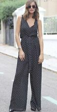 Polyester V Neck Spotted Jumpsuits & Playsuits for Women