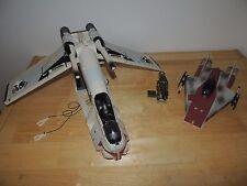 Star Wars Clone Wars Animated Republic Gunship A wing Starfighter Vehicle Lot
