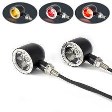 Black with Polished Bezel Integrated LED Motorbike Stop Tail Lights & Indicators
