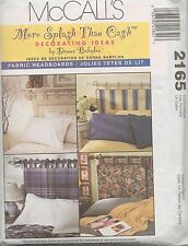 VINTAGE MCCALLS PATTERN 2165 FABRIC HEADBOARDS DECORATING  DONNA BABYLON UNCUT