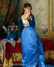 The Letter by Auguste Toulmouche - Art Victorian Woman Fashion 8x10 Print 0518
