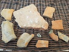 Stunning Greek BC collection of pottery shards rare glass shard & statue pc L27d