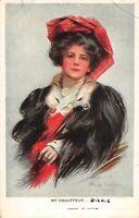 CPA Fantaisie - Femme au chapeau