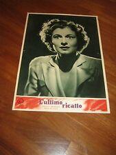 FOTOBUSTA,1951 L-ULTIMO RICATTO,Blackmail.E.G.Robinson  Potter.Noir Ruth Hussey,