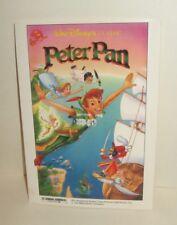 DISNEY STUDIOS MOVIE CLUB MEMBER PROMO POSTCARD 1990's PETER PAN RE-RELEASE