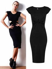 Crew Neck Patternless Short Sleeve Maxi Dresses for Women