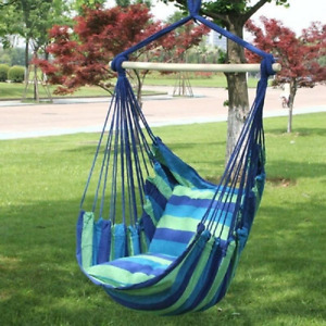 Garden Hanging Chair Hammock Swing Seat With 2Pillow Home Indoor Outdoor  Chair