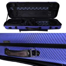 Tonareli Oblong Fiberglass Viola Case Special Edition Blue Checkered VAFO1005