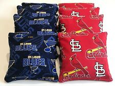 ST LOUIS CARDINALS & BLUES CORNHOLE BEAN BAGS 8 REGULATION BAG TOSS ALL WEATHER
