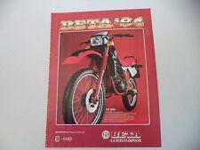advertising Pubblicità 1984 MOTO BETA RX 125 A