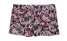 "J.Crew Factory - Womens 4 (S) - NWT - 4"" Navy/Red Paisley Printed Chino Shorts"