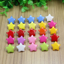 100Pcs Stylish Five-pointed Star Shape Resin Buttons 16mm Sewing Scrapbooking