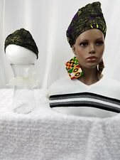 Pre-Styled African Print,African Head Wrap,Ankara Cap Turban Pre-Tied Mom Me Hat