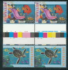 Australian Stamps: 1995 The World Down Under -  Set of 2 x 2 Guttered