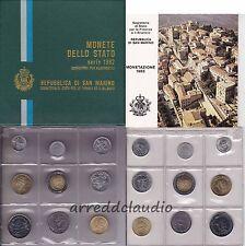 SAN MARINO SERIE 9 VALORI 1982 FIOR DI CONIO CONFEZIONE ORIGINALE