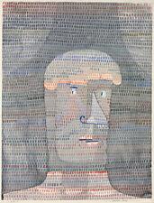 Athletes Head by Paul Klee 1932 75cm x 57cm High Quality Art Print