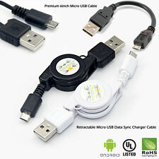 Retractable Micro USB Charger Data Sync Cable for Samsung Galaxy S4 HTC Android