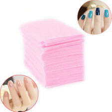 100 x LINT FREE NAIL WIPE WIPES PAD PADS ART GEL PEDICURE POLISH REMOVER CUTICLE