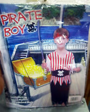 Halloween costume PIRATE BOY, childs size, new in package, w shirt, pants, more