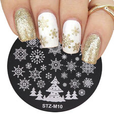 Nail Art Stamping Plates Image Plate Decoration Christmas Snowflakes Tree STZM10