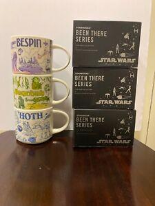 Star Wars May the 4th StarBucks Mugs SET, Hoth/Bespin/Dagobah